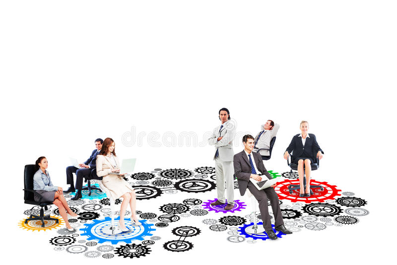 Σύνθετη εικόνα της επιχειρησιακής ομάδας στοκ φωτογραφία