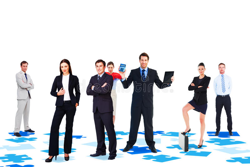 Σύνθετη εικόνα της επιχειρησιακής ομάδας στοκ φωτογραφίες