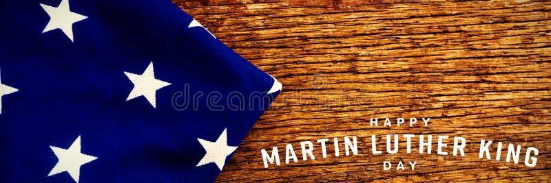 Σύνθετη εικόνα της ευτυχούς ημέρας βασιλιάδων Martin luther στοκ εικόνες