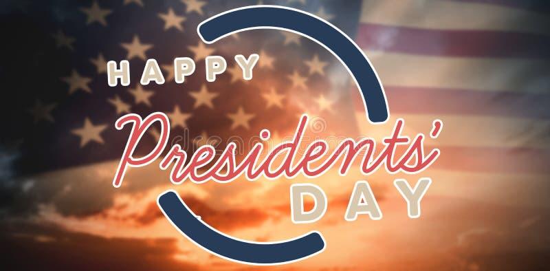 Σύνθετη εικόνα της ευτυχούς ημέρας Προέδρων Διανυσματική τυπογραφία ελεύθερη απεικόνιση δικαιώματος