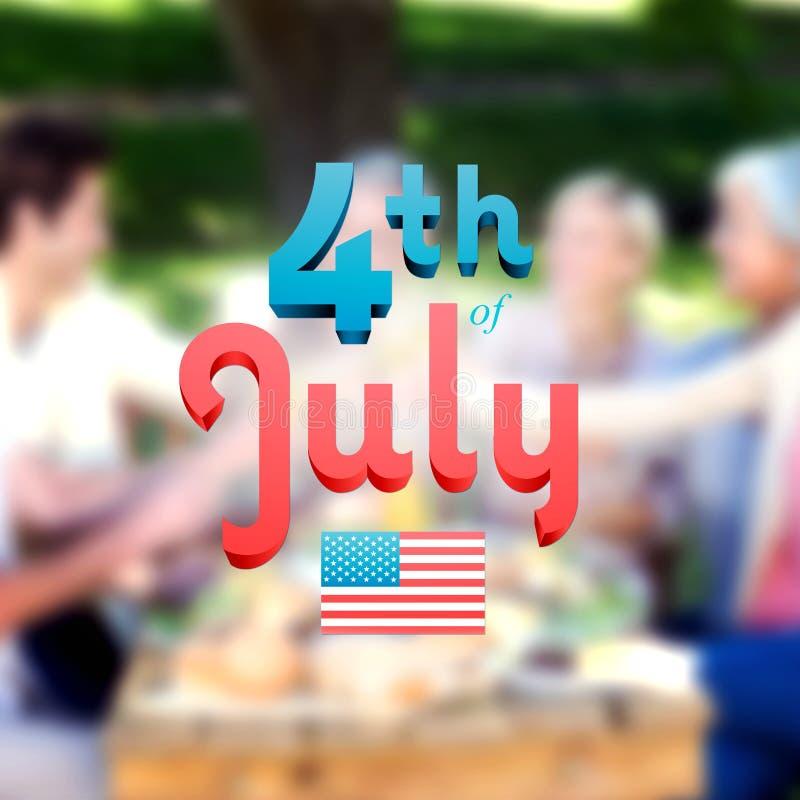 Σύνθετη εικόνα της ημέρας της ανεξαρτησίας γραφική διανυσματική απεικόνιση
