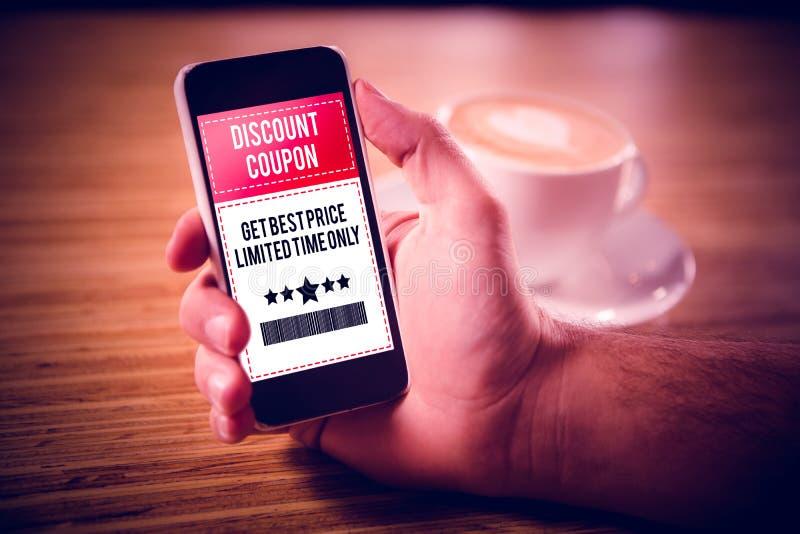 Σύνθετη εικόνα της διαφήμισης πώλησης στοκ εικόνες