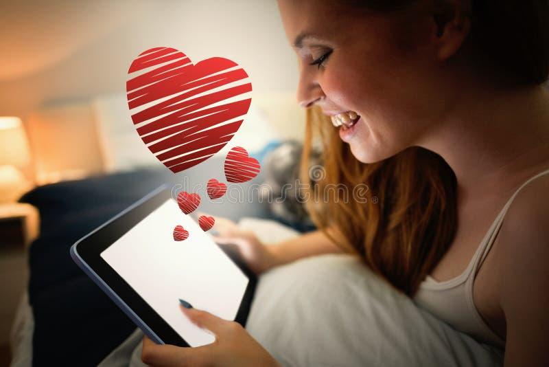 Σύνθετη εικόνα της κόκκινης καρδιάς στοκ φωτογραφία με δικαίωμα ελεύθερης χρήσης