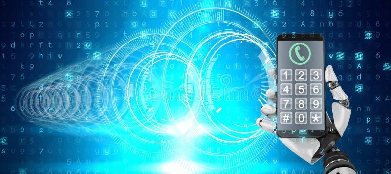 Σύνθετη εικόνα της οθόνης ενός smartphone ελεύθερη απεικόνιση δικαιώματος