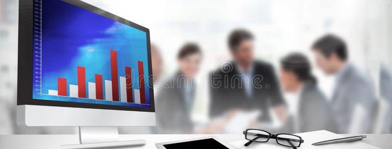 Σύνθετη εικόνα της οθόνης υπολογιστή στοκ φωτογραφίες με δικαίωμα ελεύθερης χρήσης