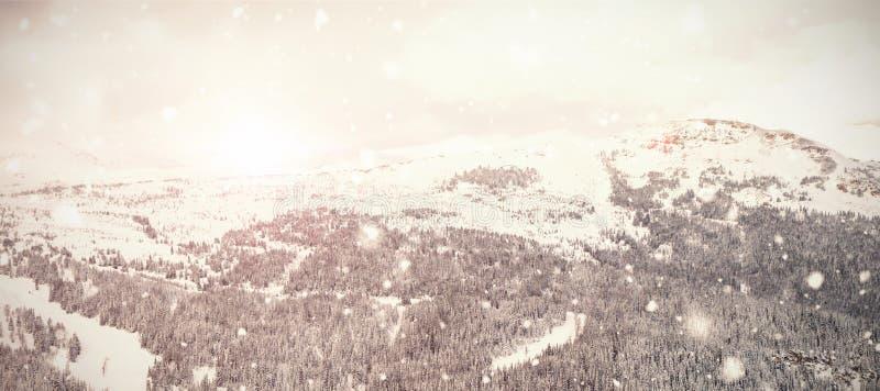 Σύνθετη εικόνα της πτώσης χιονιού ελεύθερη απεικόνιση δικαιώματος