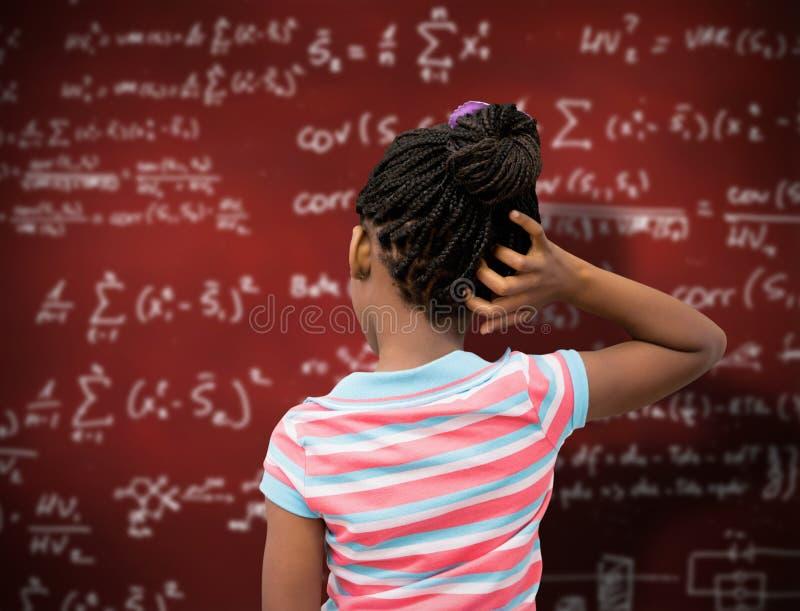 Σύνθετη εικόνα της σκέψης μαθητών στοκ εικόνα με δικαίωμα ελεύθερης χρήσης