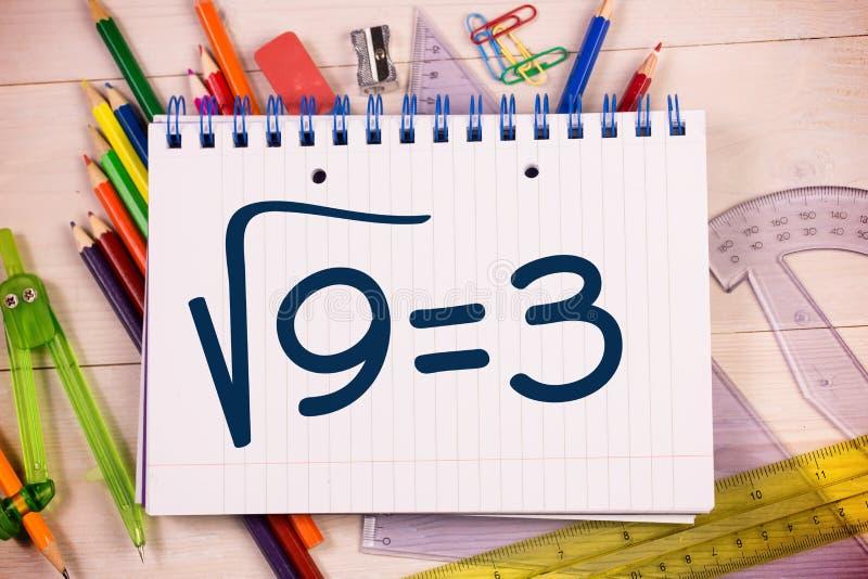 Σύνθετη εικόνα της τετραγωνικής ρίζας τριών απεικόνιση αποθεμάτων