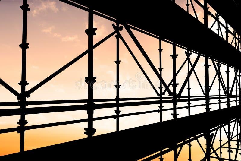 Σύνθετη εικόνα της τρισδιάστατης εικόνας των υλικών σκαλωσιάς κατασκευής στοκ φωτογραφία