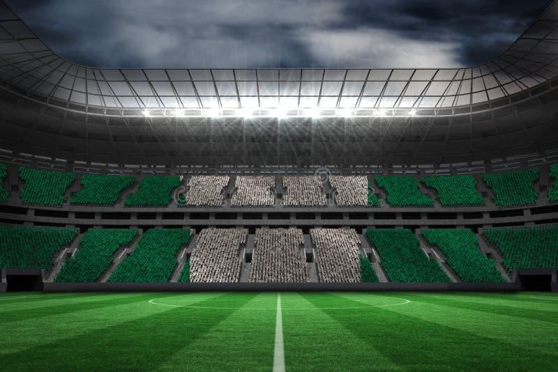 Σύνθετη εικόνα της ψηφιακά παραγμένης νιγηριανής εθνικής σημαίας διανυσματική απεικόνιση