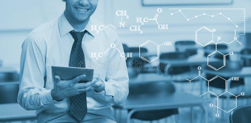 Σύνθετη εικόνα της ψηφιακής εικόνας των χημικών τύπων στοκ εικόνα με δικαίωμα ελεύθερης χρήσης