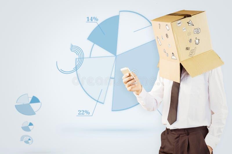 Σύνθετη εικόνα του ανώνυμου επιχειρηματία με το smartphone του στοκ εικόνες με δικαίωμα ελεύθερης χρήσης