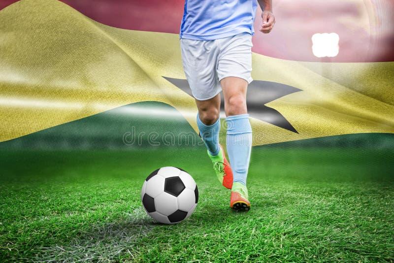 Σύνθετη εικόνα του αρσενικού παίζοντας ποδοσφαίρου ποδοσφαιριστών στοκ φωτογραφίες με δικαίωμα ελεύθερης χρήσης