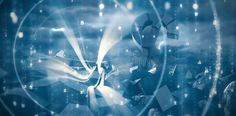 Σύνθετη εικόνα του αφηρημένου μπλε σχεδίου διανυσματική απεικόνιση
