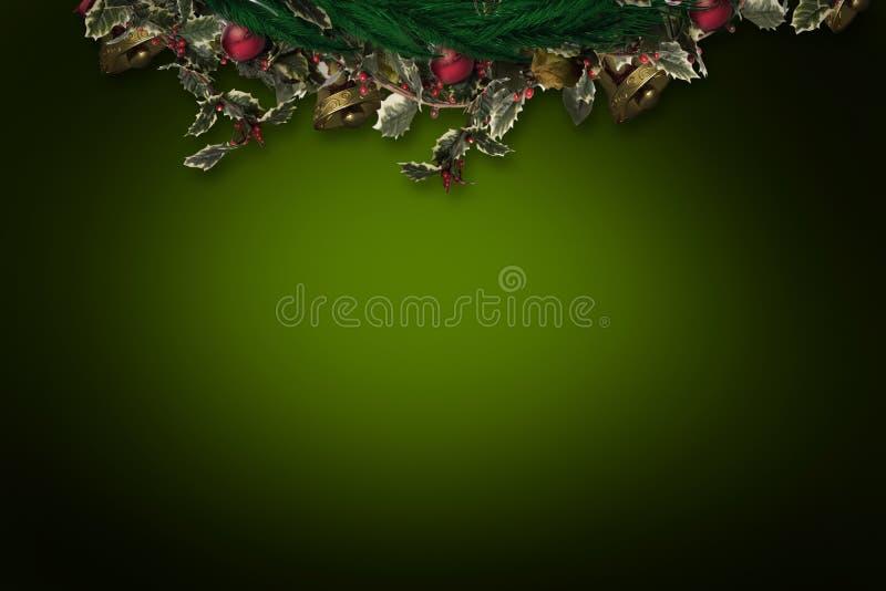 Σύνθετη εικόνα του εορταστικού στεφανιού Χριστουγέννων ελεύθερη απεικόνιση δικαιώματος