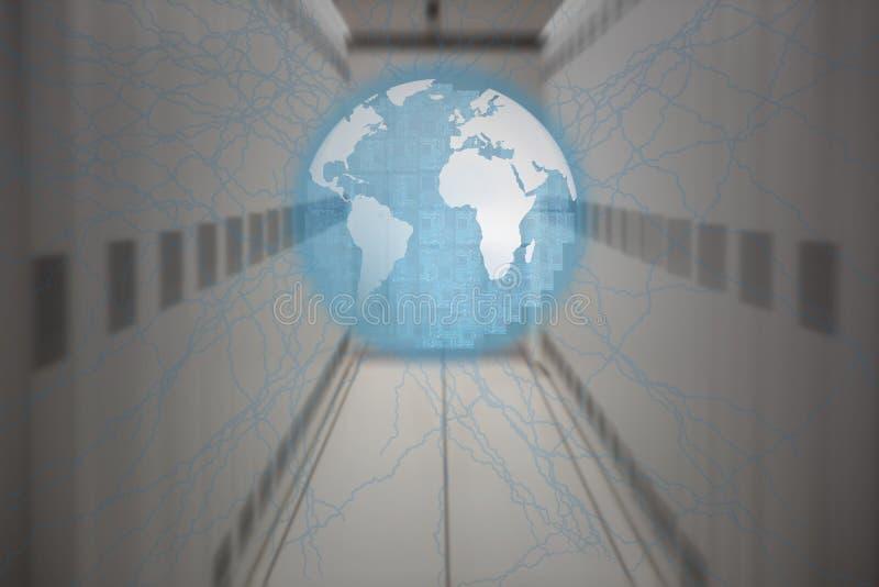 Σύνθετη εικόνα του μπουλονιού αστραπής διανυσματική απεικόνιση