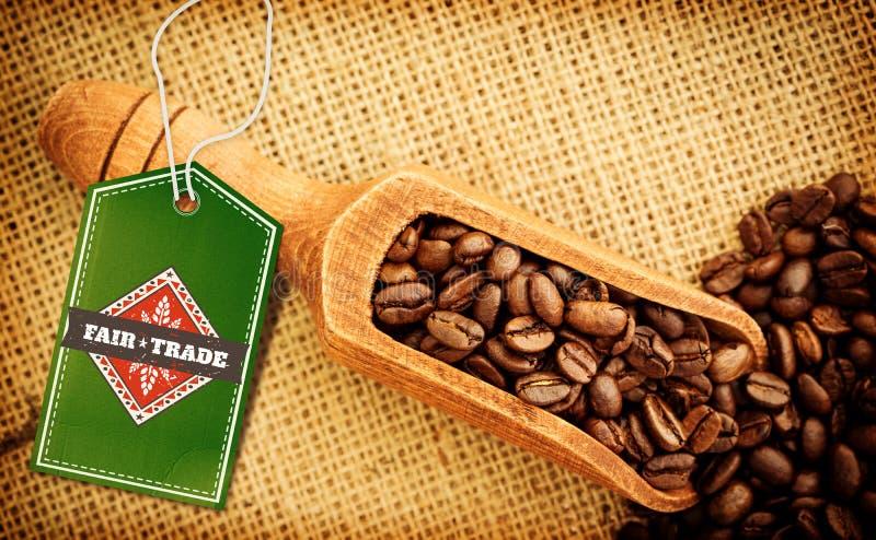 Σύνθετη εικόνα του τίμιου εμπορίου γραφική στοκ εικόνες