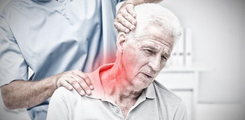 Σύνθετη εικόνα του τονισμένου πόνου στοκ εικόνες