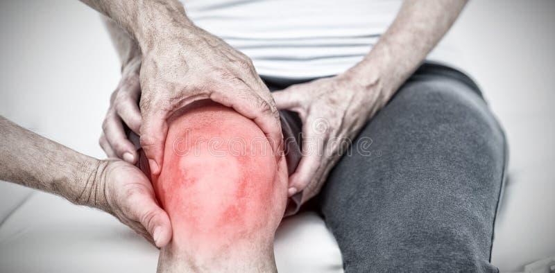 Σύνθετη εικόνα του τονισμένου πόνου στοκ φωτογραφία με δικαίωμα ελεύθερης χρήσης