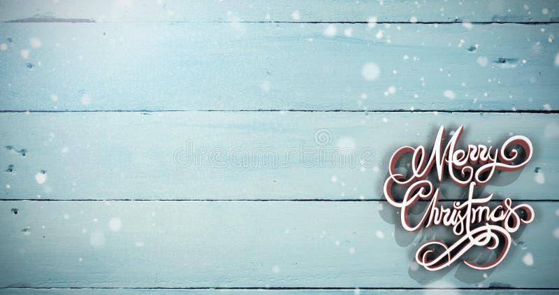 Σύνθετη εικόνα τρισδιάστατου του κειμένου Χαρούμενα Χριστούγεννας στο κόκκινο και άσπρο χρώμα ελεύθερη απεικόνιση δικαιώματος