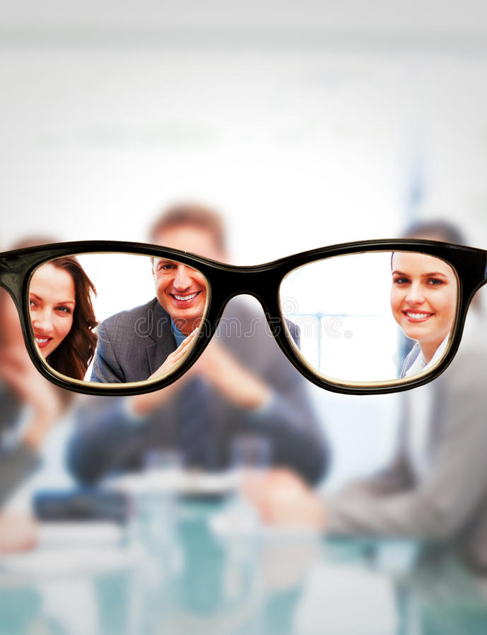 Σύνθετη εικόνα των γυαλιών στοκ φωτογραφία με δικαίωμα ελεύθερης χρήσης