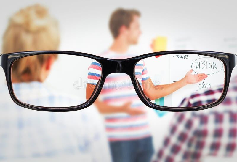 Σύνθετη εικόνα των γυαλιών στοκ εικόνα με δικαίωμα ελεύθερης χρήσης