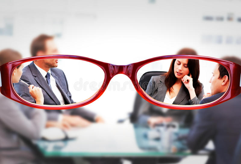 Σύνθετη εικόνα των γυαλιών στοκ εικόνες με δικαίωμα ελεύθερης χρήσης