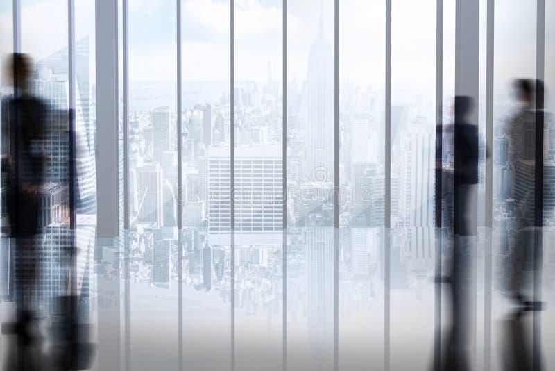 Σύνθετη εικόνα των σκιαγραφιών των επιχειρηματιών απεικόνιση αποθεμάτων