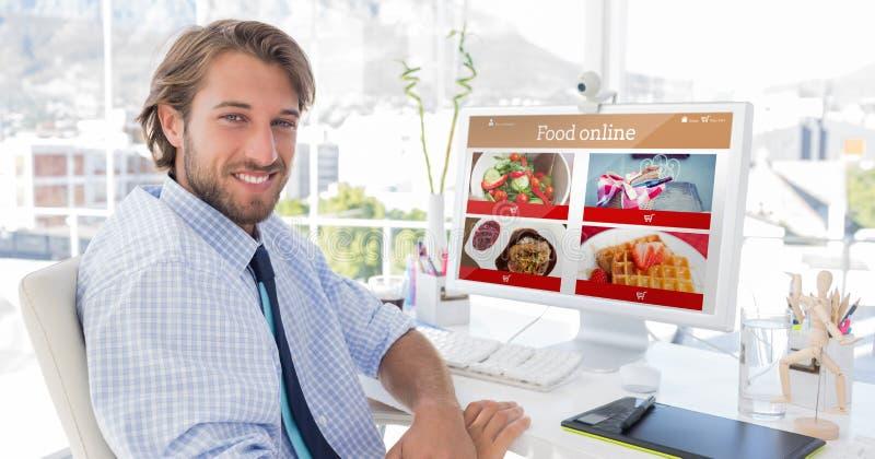 Σύνθετη εικόνα των τροφίμων app στοκ εικόνες με δικαίωμα ελεύθερης χρήσης