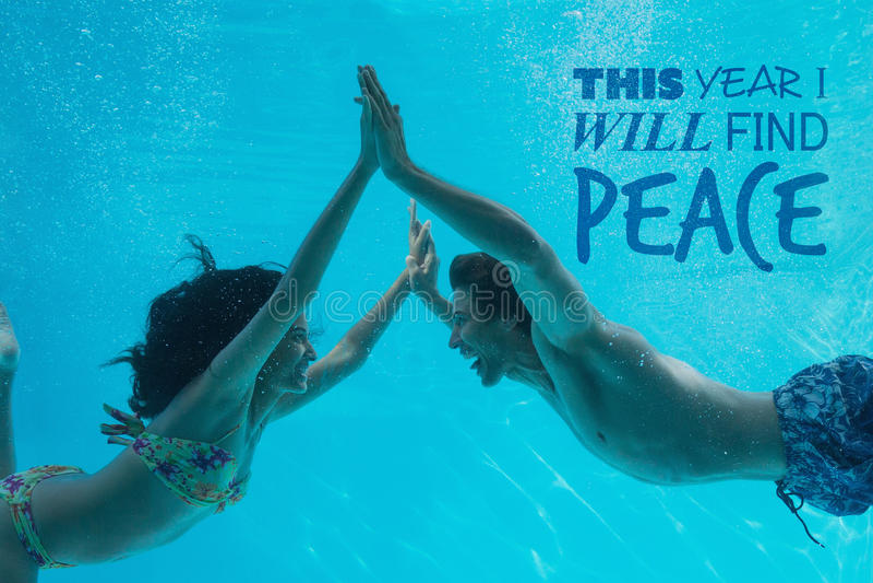 Σύνθετη εικόνα φέτος θα βρώ την ειρήνη στοκ φωτογραφίες
