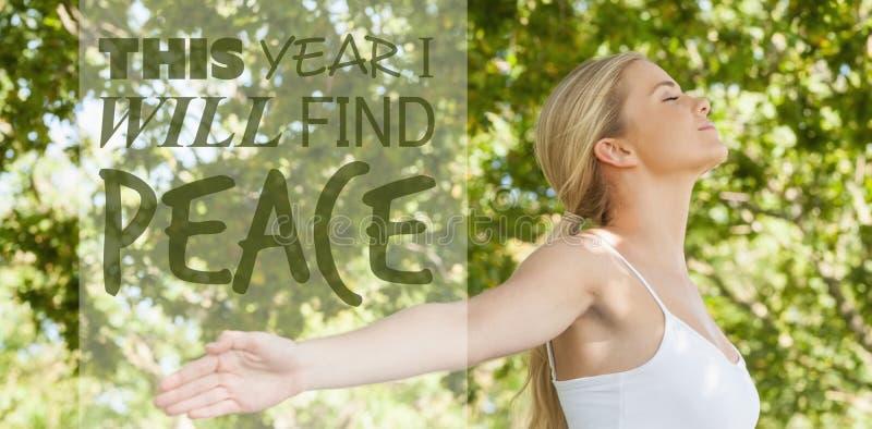 Σύνθετη εικόνα φέτος θα βρώ την ειρήνη στοκ φωτογραφία με δικαίωμα ελεύθερης χρήσης