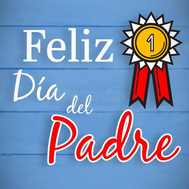 Σύνθετη εικόνα feliz dia del padre απεικόνιση αποθεμάτων