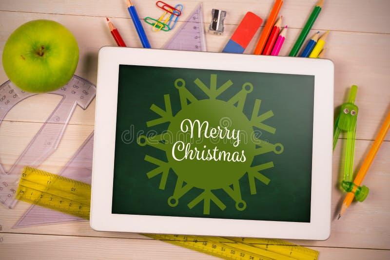 Σύνθετη εικόνα snowflake της Χαρούμενα Χριστούγεννας στοκ εικόνες
