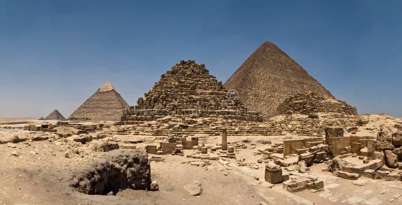 Σύνθετο πανόραμα πυραμίδων Giza στοκ φωτογραφία με δικαίωμα ελεύθερης χρήσης