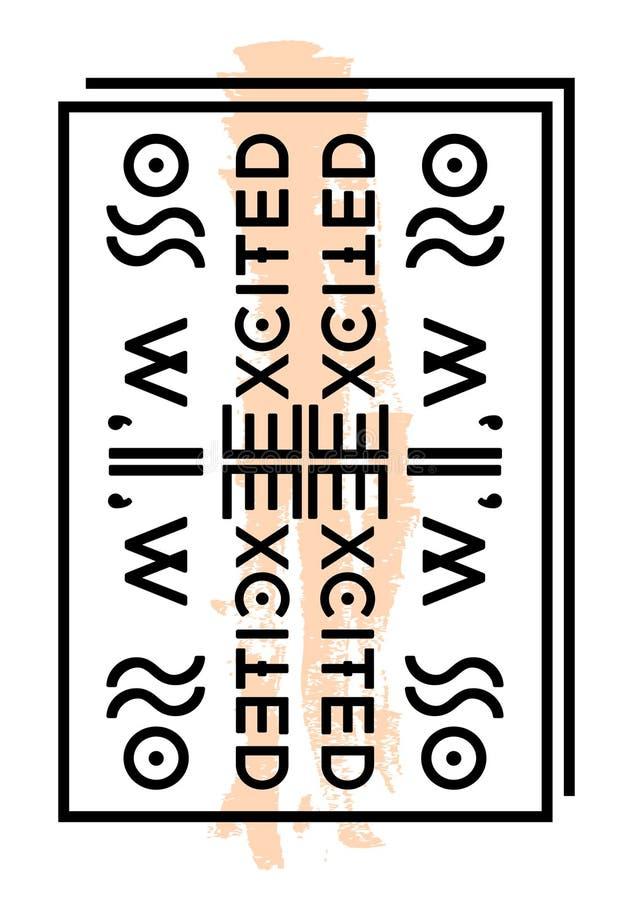 Σύνθημα, τυπωμένη ύλη κειμένων ελεύθερη απεικόνιση δικαιώματος