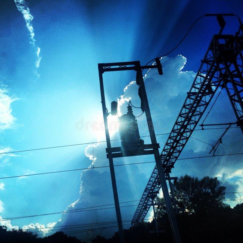 σύννεφα βιομηχανικά στοκ εικόνες