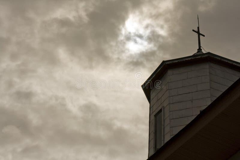 Σύννεφα εκκλησιών και θύελλας στοκ εικόνα με δικαίωμα ελεύθερης χρήσης