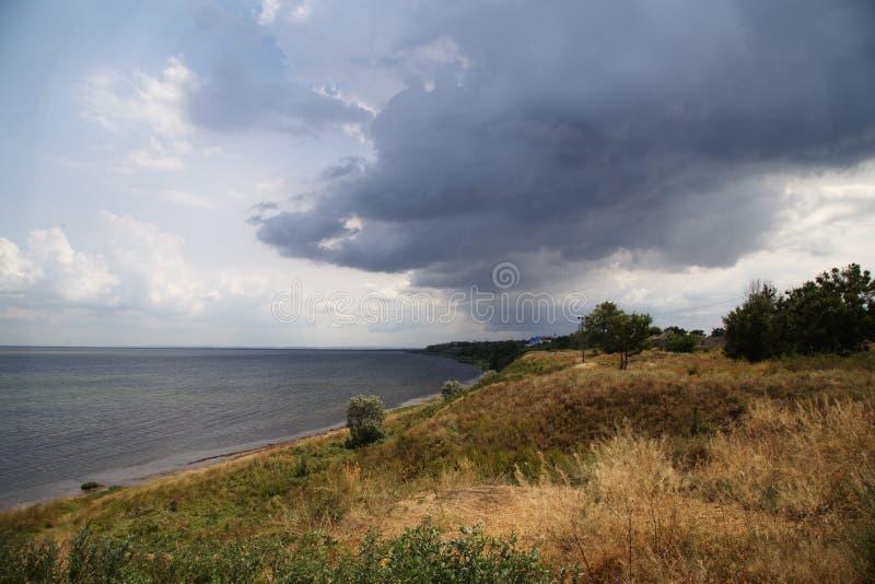 Σύννεφα θάλασσας και θύελλας στοκ φωτογραφία