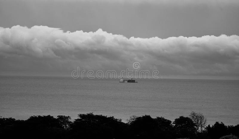 Σύννεφα θύελλας πέρα από τη λίμνη Μίτσιγκαν στοκ φωτογραφίες με δικαίωμα ελεύθερης χρήσης