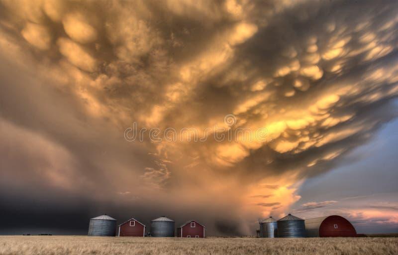 Σύννεφα Καναδάς θύελλας στοκ φωτογραφία