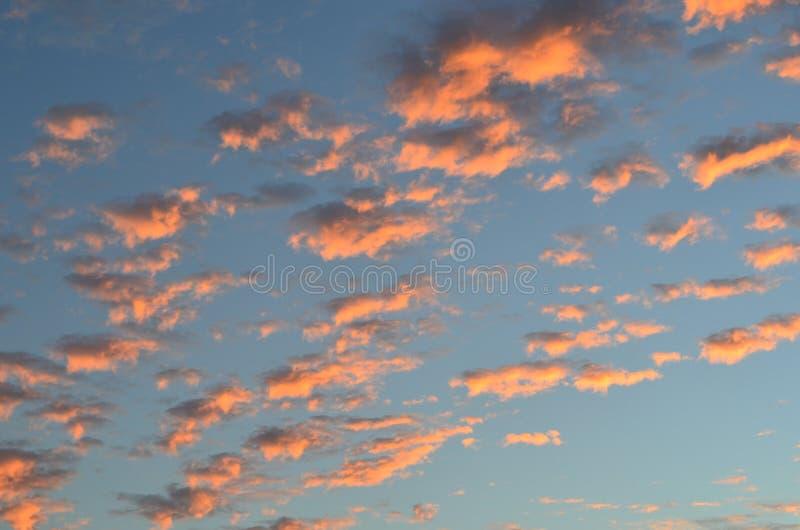 σύννεφα στο ηλιοβασίλεμα όπως το βαμβάκι στοκ φωτογραφία με δικαίωμα ελεύθερης χρήσης