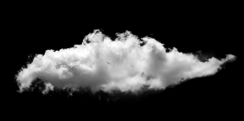 Σύννεφα στο μαύρο φόντο Εικονίδιο σύννεφων στοκ φωτογραφίες