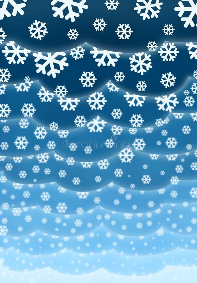 σύννεφα Χριστουγέννων ανα διανυσματική απεικόνιση