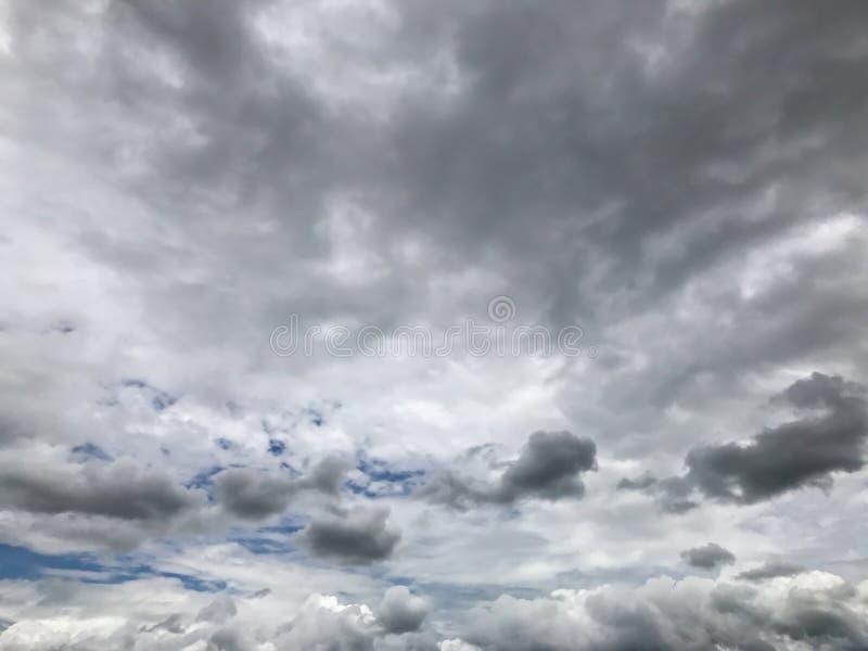 Σύννεφα Nimbus, σκοτεινός δυσοίωνος ουρανός στοκ εικόνες