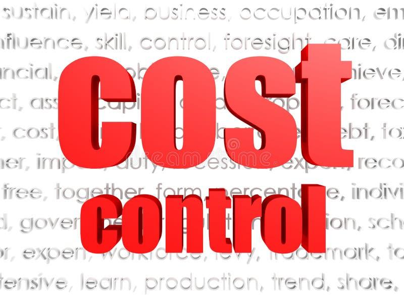 Σύννεφο λέξης ελέγχου δαπανών διανυσματική απεικόνιση