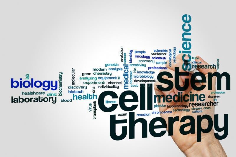 Σύννεφο λέξης θεραπείας βλαστικών κυττάρων στοκ εικόνες