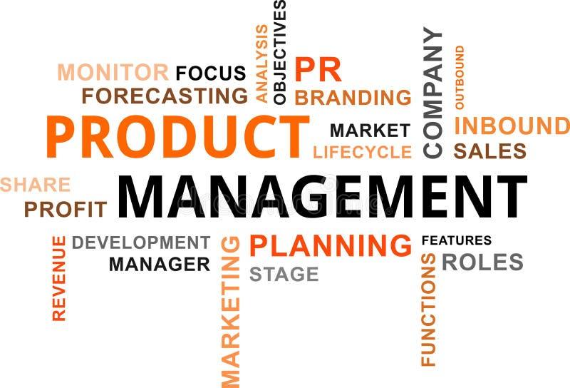 Σύννεφο λέξης - διαχείριση προϊόντος διανυσματική απεικόνιση