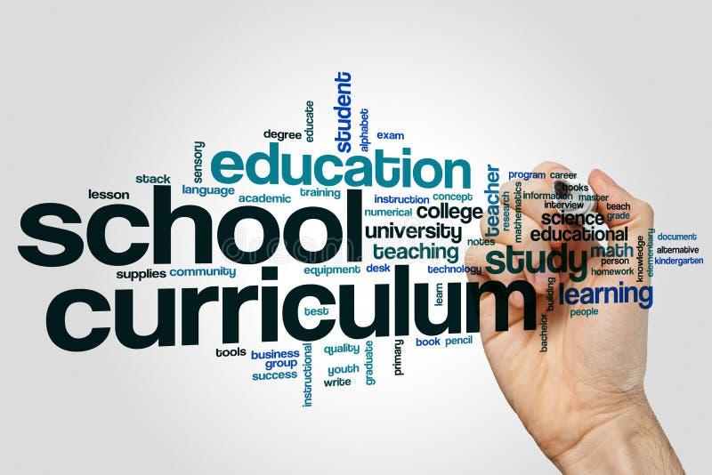 Σύννεφο λέξης σχολικού προγράμματος σπουδών στοκ εικόνα