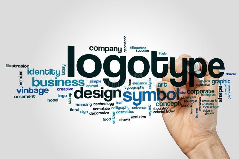 Σύννεφο λέξης Logotype στοκ εικόνες