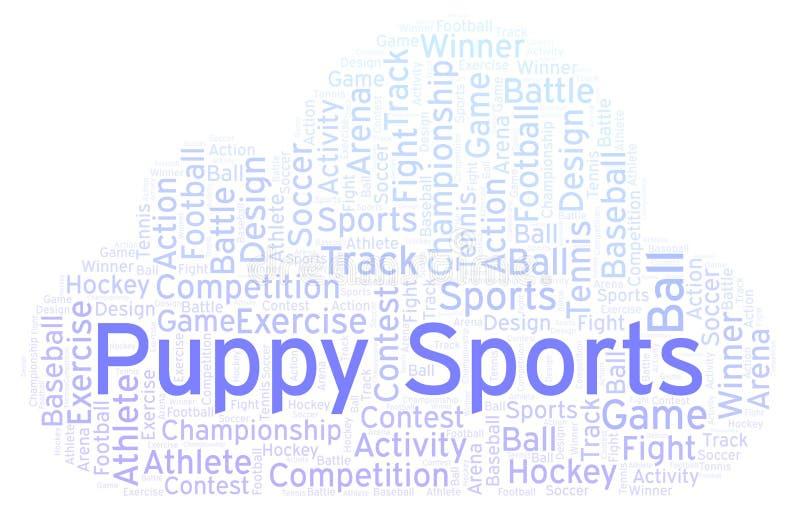 Σύννεφο αθλητικής λέξης κουταβιών ελεύθερη απεικόνιση δικαιώματος